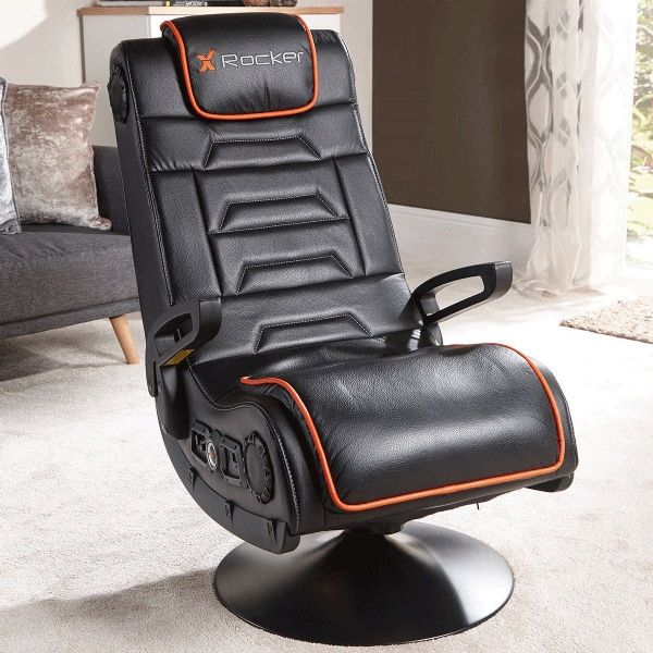X Rocker Afterburner Wireless Pedestal Gaming Chair Bluetooth New 2018